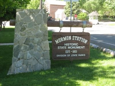 Mormon Station State Monument Sign image. Click for full size.