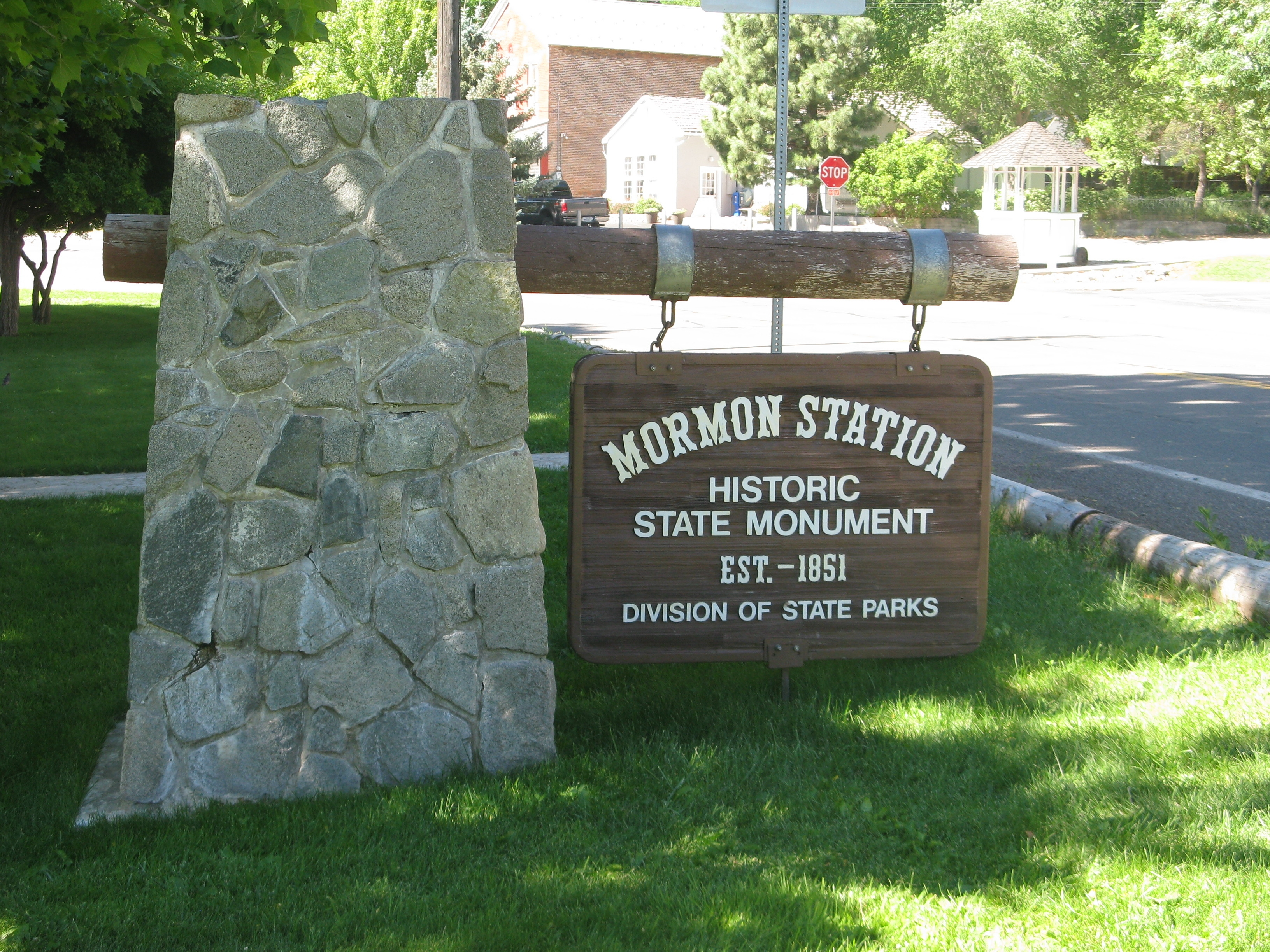 Mormon Station State Monument Sign