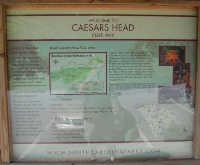 Welcome to Caesars Head State Park Marker image. Click for full size.
