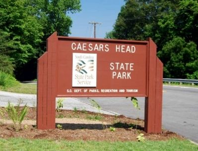 Caesars Head State Park Entrance image. Click for full size.