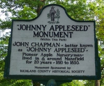 """Johnny Appleseed"" Monument Marker image. Click for full size."