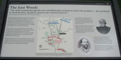 The East Woods Marker image. Click for full size.