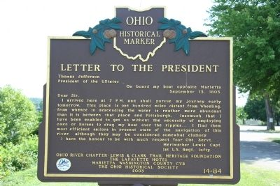 Letter to the President Marker image. Click for full size.