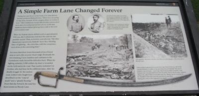 A Simple Farm Lane Changed Forever Marker image. Click for full size.