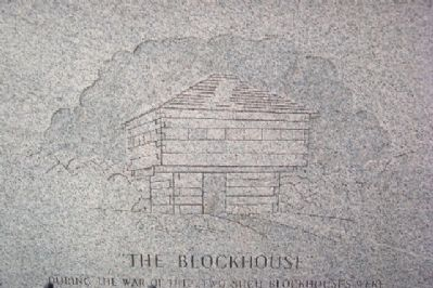 Richland County Soldiers' Monument Blockhouse Engraving image. Click for full size.