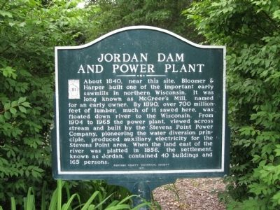 Jordan Dam and Power Plant Marker image. Click for full size.