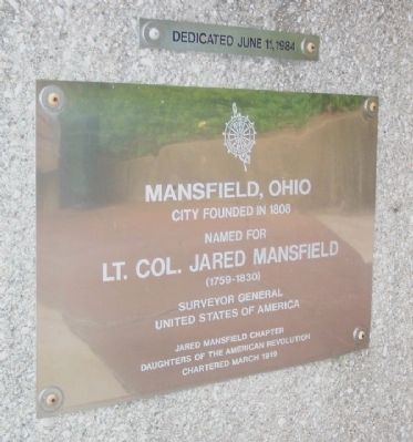 Lt. Col. Jared Mansfield Marker image. Click for full size.