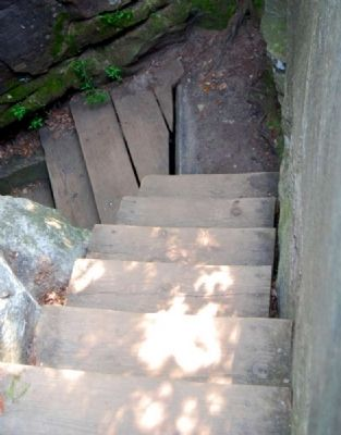 Stairs Leading to Devil's Kitchen image. Click for full size.