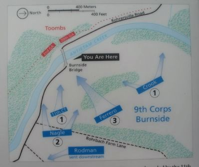 Assaults on the Burnside Bridge image. Click for full size.