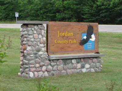 Nearby Jordan County Park Sign image. Click for full size.