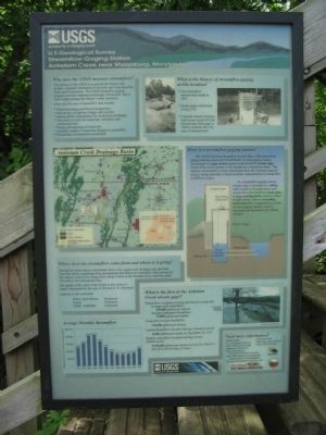 U.S. Geological Survey Streamflow-Guging Station Marker image. Click for full size.