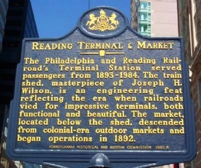 Reading Terminal and Market Marker image. Click for full size.