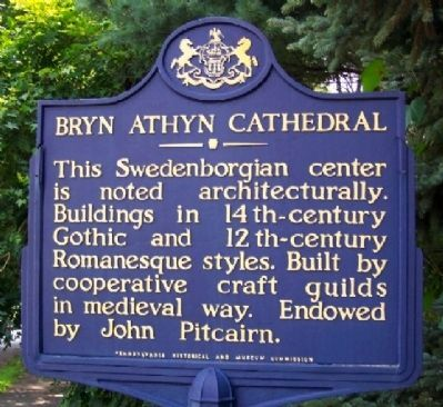 Bryn Athyn Cathedral Marker image. Click for full size.