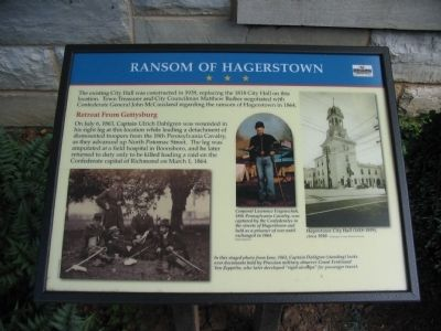 Ransom of Hagerstown Marker image. Click for full size.