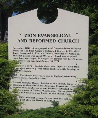 Church History Sign image. Click for full size.