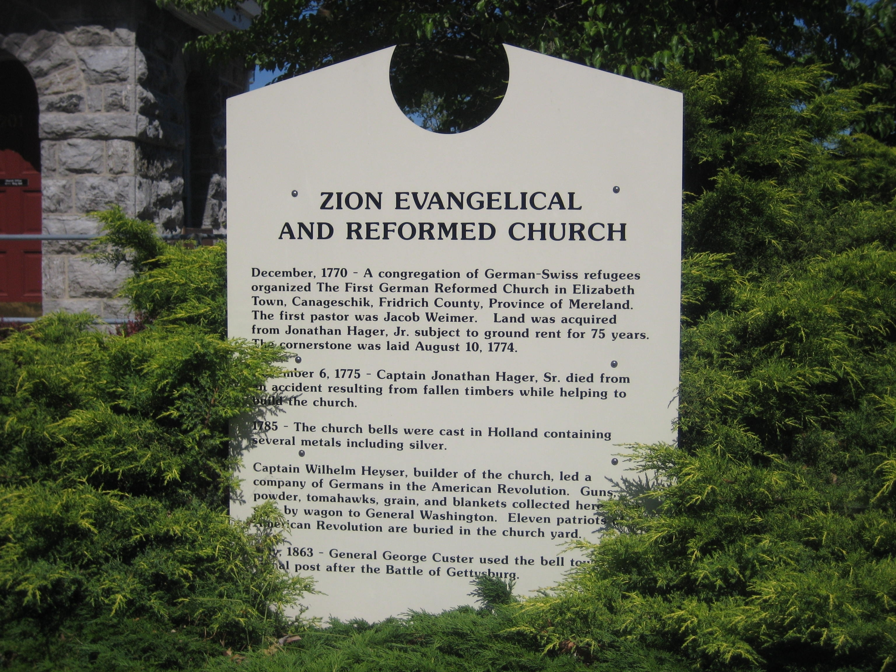Church History Sign