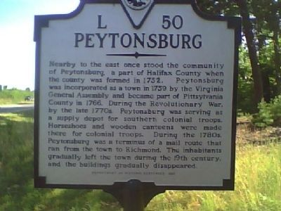 Peytonsburg Marker image. Click for full size.