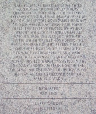 1905 Wright Flyer III Plaza Inscription Paver image. Click for full size.