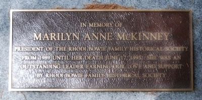 Marilyn Anne McKinney Marker image. Click for full size.