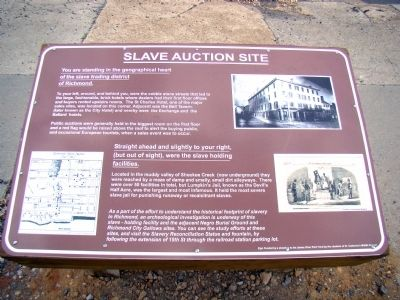 Slave Auction Site Marker image. Click for full size.
