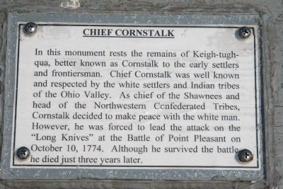 Chief Cornstalk Marker image. Click for full size.