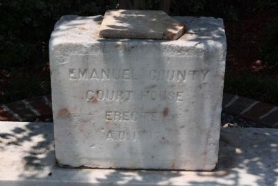 Emanuel County Former Courthouse Site , Erected 1895 image. Click for full size.