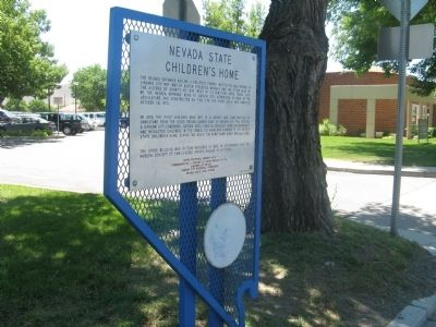 Nevada State Children's Home Marker image. Click for full size.
