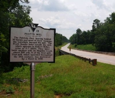 Action at Pratt&#39;s Mill Marker -<br>Highway 184 in Background image. Click for full size.