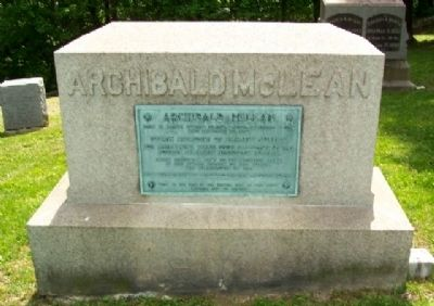 Archibald McLean Tombstone image. Click for full size.