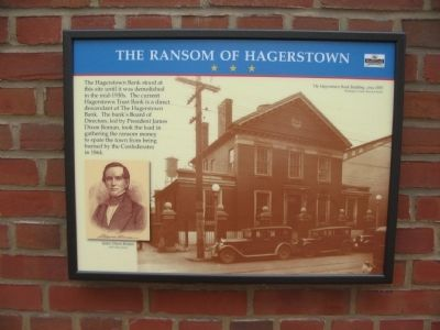The Ransom of Hagerstown Marker image. Click for full size.