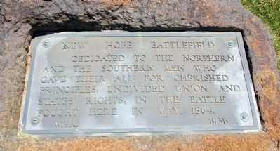 New Hope Battlefield Marker image. Click for full size.