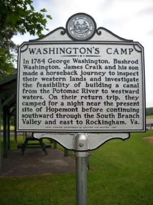 Washington's Camp Marker image. Click for full size.