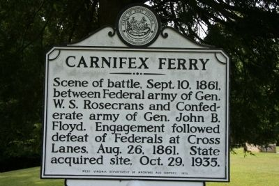 Carnifex Ferry Marker image. Click for full size.
