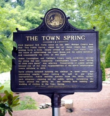 The Town Spring Marker image. Click for full size.