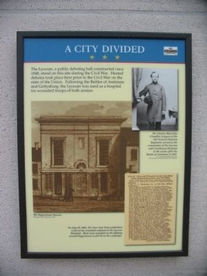 A City Divided Marker image. Click for full size.