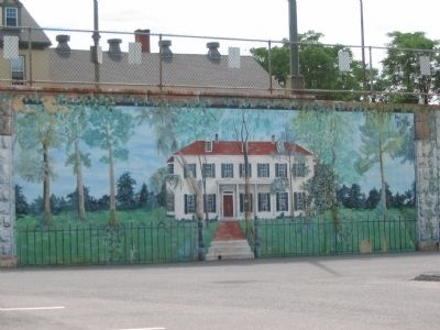 Mural in the Parking Lot Depicting Mount Prospect image. Click for full size.