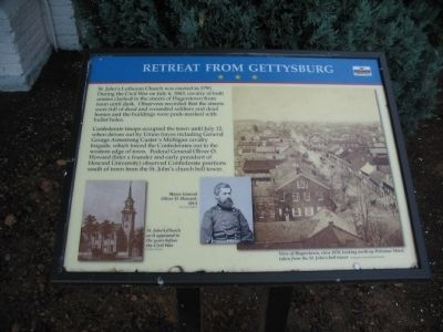 Retreat from Gettysburg Marker image. Click for full size.