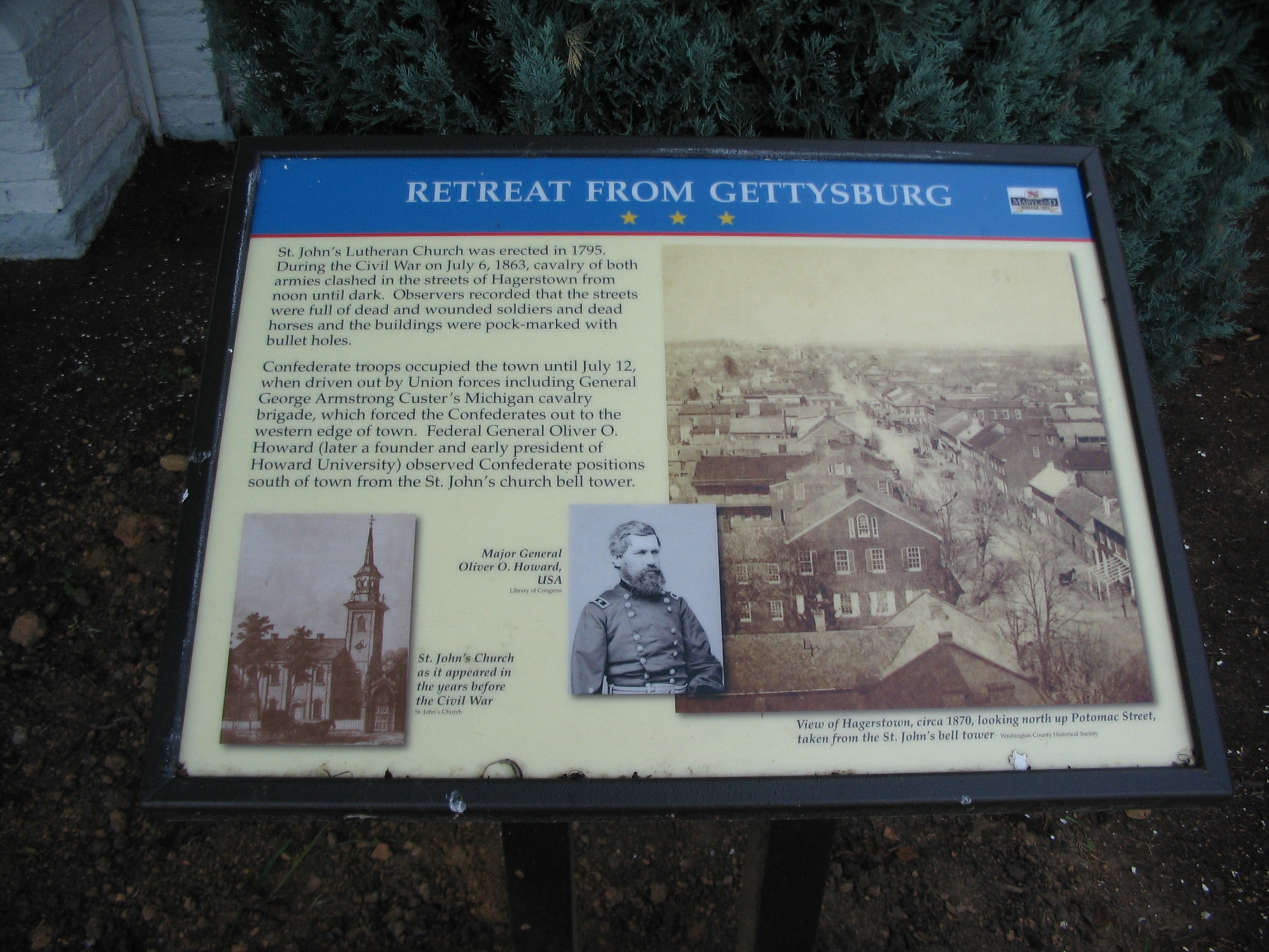 Retreat from Gettysburg Marker