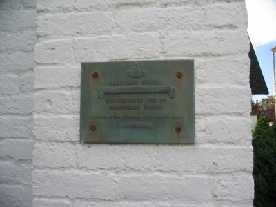 Plaque on Side of Church image. Click for full size.