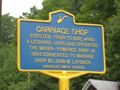 Carriage Shop Marker, Edinburg, N.Y. image. Click for full size.