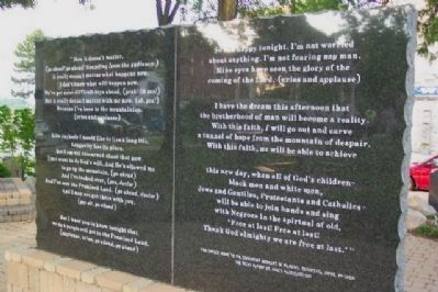 Dr. Martin Luther King, Jr. Memorial (rear) image. Click for full size.
