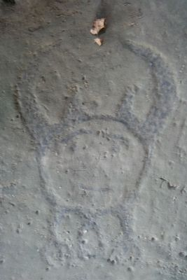 Leo Petroglyph image. Click for full size.