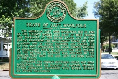 Death of Capt. Woolfolk Marker image. Click for full size.