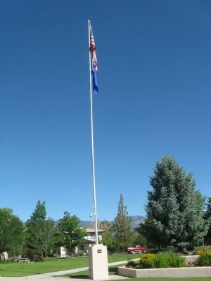 Douglas County World War II Memorial Flagpole image. Click for full size.