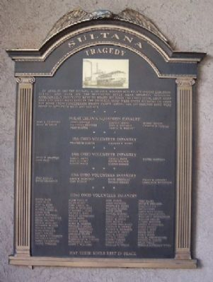 Sultana Tragedy Marker image. Click for full size.