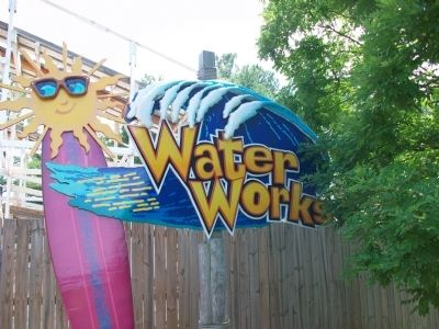 Water Works Sign at entrance to newer section image. Click for full size.