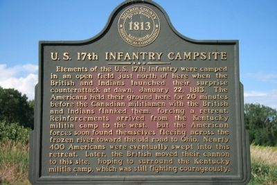 U.S. 17th Infantry Campsite Marker image. Click for full size.