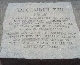 John Ford Memorial - Oscar Marker Stone 5 image. Click for full size.