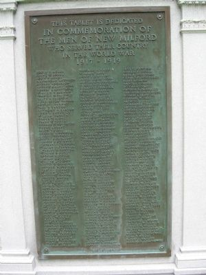 New Milford WW I Memorial image. Click for full size.