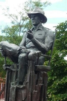 John Ford Memorial Statue - by George Kelly image. Click for full size.